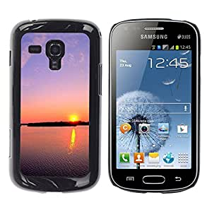 Exotic-Star ( Sunset Beautiful Nature 112 ) Fundas Cover Cubre Hard Case Cover para Samsung Galaxy S Duos / S7562