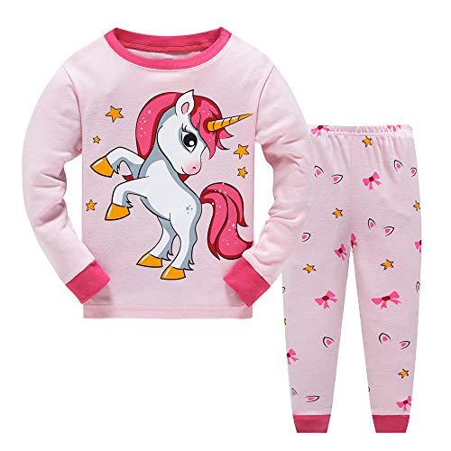 JinBei Pyjama Kids Meisjes Set Peuter Nachtkleding Kind Pajamas Winter Katoenen Lange Mouw Eenhoorn Night Suit Tops…