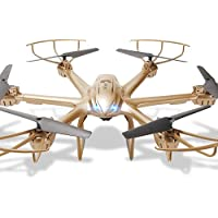 Kingtoys MJX X601H FPV Wifi Hexacopter RC Quadcopter Helicopter with 0.3MP Camera2.4GHz 6 Channel 6 Axis Gyro Aircraft Drone Gold