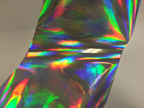 Holographic Shimmer (OilSlick / Rainbow / Overall / Shimmer Holographic Sign Vinyl, 12 Inch X 10 Ft)