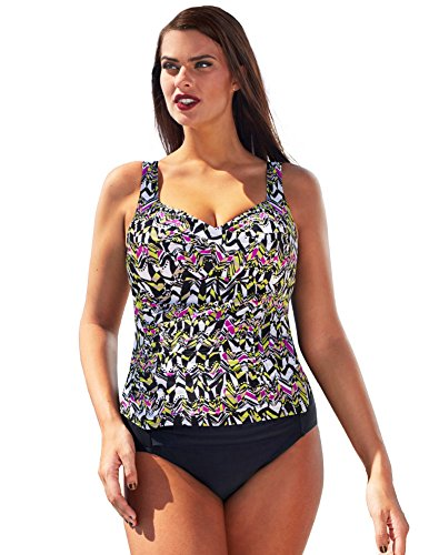 d37b463d0e7 Shore Club Women s Plus Size Honeydew Twist-Front Ruched Tankini 18 Yellow