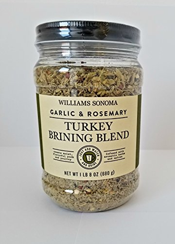Williams Sonoma Turkey Brining Blend - Garlic & Rosemary (1 LB 8 oz) (ONE (Brining Thanksgiving Turkey)