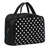 Cosmetic Bag, Mchoice Portable Entrancing Multifunction Travel Cosmetic Bag Makeup Toiletry Case Pouch (Black)