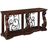 Ashley Furniture Signature Design - Alymere Sofa Table or Entertainment Console - Rectangular - Rustic Brown