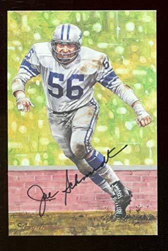 Joe Schmidt Signed Photo Goal Line Art GLAC Autographed Lions 40436