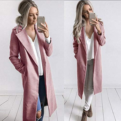 Femme Coat Automne Long Manteau Vintage de ete v Hiver Simple Veste Parka Taille Revers Womens Tops Courte Chic Cardigan Grande 7r71qwPx5
