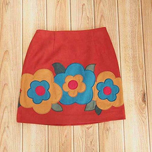 Amazon | LILY BROWN リリーブラウン フラワー台形スカート lwfs165052/2016秋冬 ORANGE  1 | スカート 通販