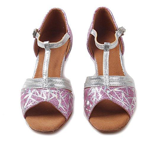 amp;Niña Rosa Baile de 2 Modelo Latinos Salsa Zapatillas de Zapatos de Danza ESXGG Performance de YKXLM Tango Salón Baile Calzado Mujeres SHqww8