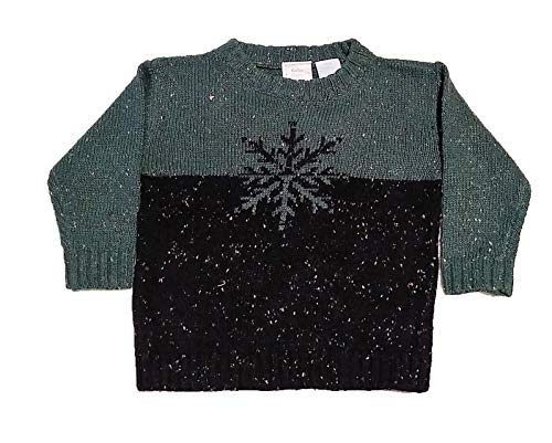 Kobe Baby Children's Holiday Ugly Christmas Party Sweater for Toddler Boys/Girls - Snowflake (9 Months, Green) (Christmas Kobe 9)