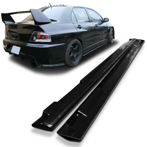 Mitsubishi EVO 7/ 8/ 9 JDM Underline Style Urethane Side Skirt Extensions For 01-07 Models