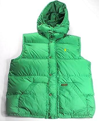 Ralph Lauren Polo de Hombre Verde Boulder Down Chaleco Chaleco ...