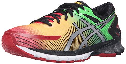 ASICS Men's Gel-Kinsei 6 Running Shoe, True Red/Silver/Black, 10.5 M US