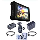 Atomos Shogun Inferno - 7'' 4Kp60 Monitor/Recorder - Bundle with Spare NPF970 Battery, Compact Charger, 2x HDMI Mini Cable 9', Cleaning Kit, Mini Ball Head with Lock and Hot Shoe Adapter