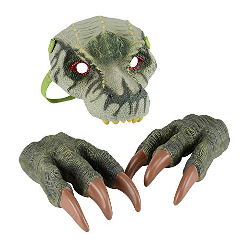 Dinosaur Mask and Dino Claws Set for Kids Dinosaur Halloween Costumes (Tyrannosaurus)
