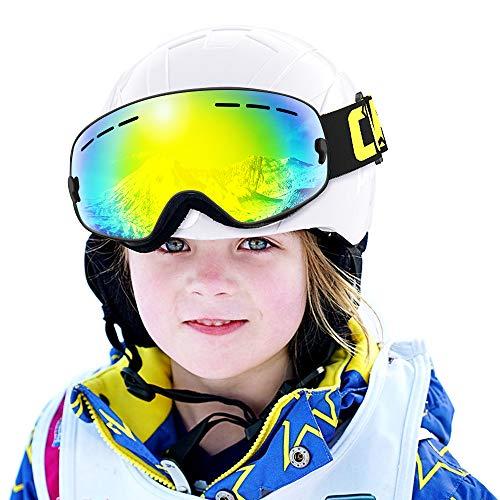 COPOZZ Kids Ski Goggles, G3 Children (Age 2-12) Snow Snowboard Goggles - Helmet Compatible Over Glasses OTG Non-Slip Strap UV400 Protection for Children Youth Boys Girls