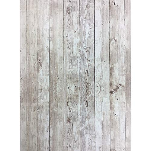 Yenhome Wood Contact Paper for Cabinets 17.7x118 inch Shiplap Peel and Stick Wallpaper Self Adhesive Shelf Liner Kitchen Wall Decor Wall Covering Peel and Stick Wall Paper Decorations for Living Room