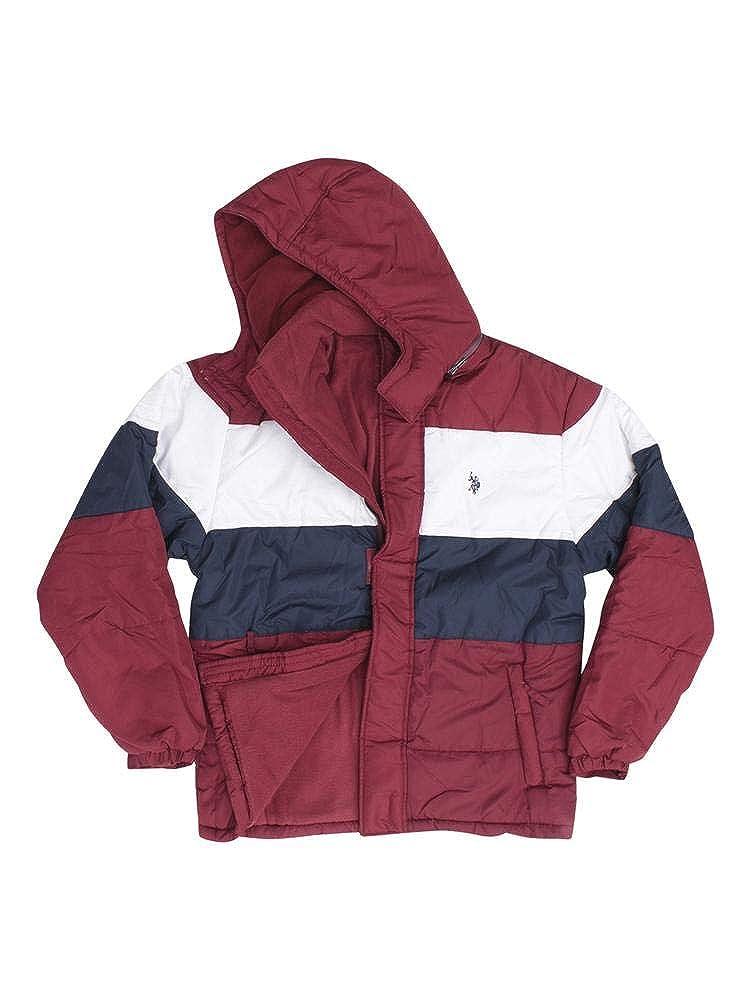 Mens Color Block Short Bubble Jacket 109146P2 U.S Polo Assn