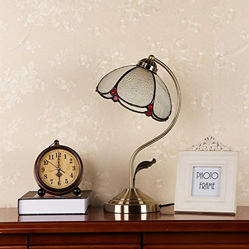 YYF Transparent Table lamp - Lotus Leaf Mediterranean Style - Bedroom Bedside Table lamp - Decorative Lamps (Color : A)