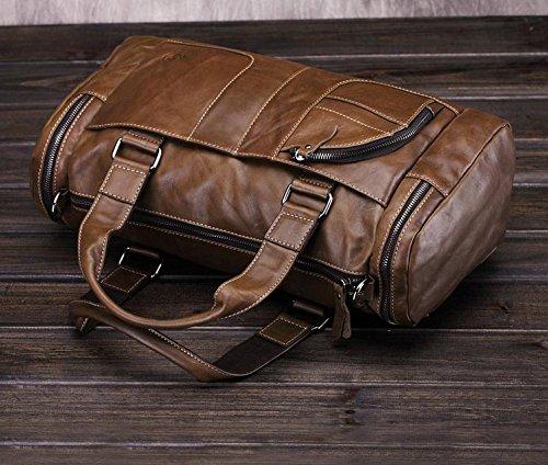 RTZLL Retro Tasche Handtasche Schulter geschlungen Taschen Header Öl Wachs Mann Tasche
