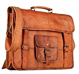 TUZECH Genuine Leather Laptop Vintage Messenger Bag Handmade Unisex Fits Laptop Upto 13 Inches