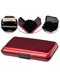 Hard Bodied Wallet 6 Slot Credit Card Holder in Red by VAGA®