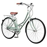 Pure City Dutch Style Step-Thru 3-Speed Bicycle, 45cm/ Medium, Crosby Sea Foam Green/White