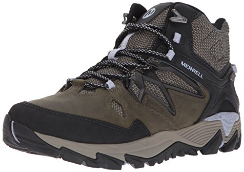 Merrell Womens All Out Fiammata 2 Mid Boot Da Trekking Impermeabile Oliva Scura