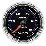 Auto Meter 6191 Cobalt 2-1/16'' 8-18V Full Sweep Electric Voltmeter