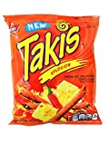 BARCEL TAKIS XPLOSION VERY HOT CHEESE AND CHILLI PEPPER TORTILLA CHIPS 4 oz Each ( 16 in a Pack ) by BARCEL TAKIS