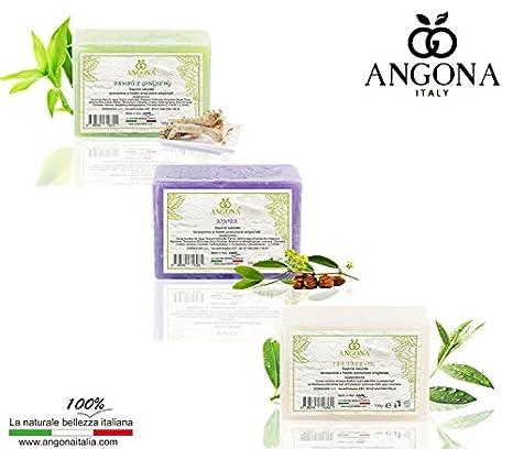 ANGONA Paquete de Jabón 100% Natural 3 tipos x 100g -con Jojob, ...