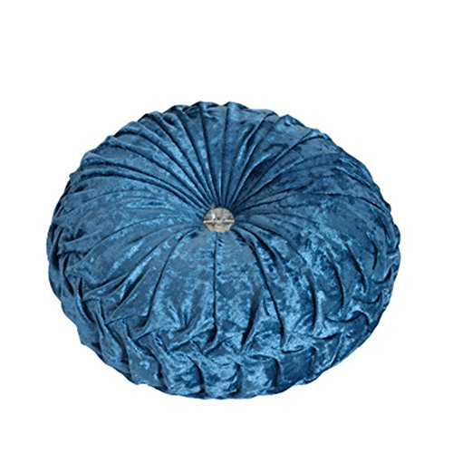 NOVWANG Round Solid Color Velvet Chair Cushion Couch Pumpkin Throw Pillow Home Decorative