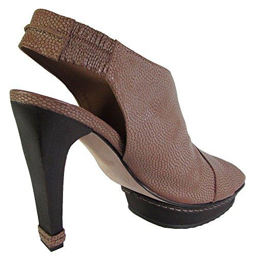 Max Azria Bcbg Femmes Écho Caillou Grain Peep Toe Plate-forme Pompe Chaussure Argile
