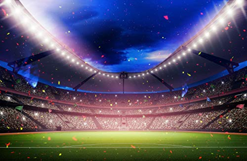 (15x10ft Stadium Sports Outdoor Architectural Theme Pictorial Cloth Customized Photography Backdrops Digital Printing Background Photo Studio Prop)