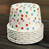 Product review for Chunlin 50pcs Paper Cake Cup Cupcake Wrapper Cases Liner Muffin Baking Wedding XMAS Party (Flower)