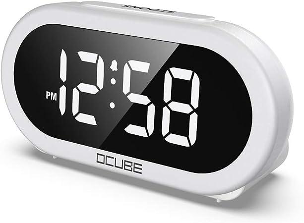 Rosa Cube Mini-Wecker Mit Timing Led Nachtlicht USB F/ür Studenten Schlafzimmer Wecker Elektronischer Kleiner Kreative Kind OVAERO Digital Clock Wecker