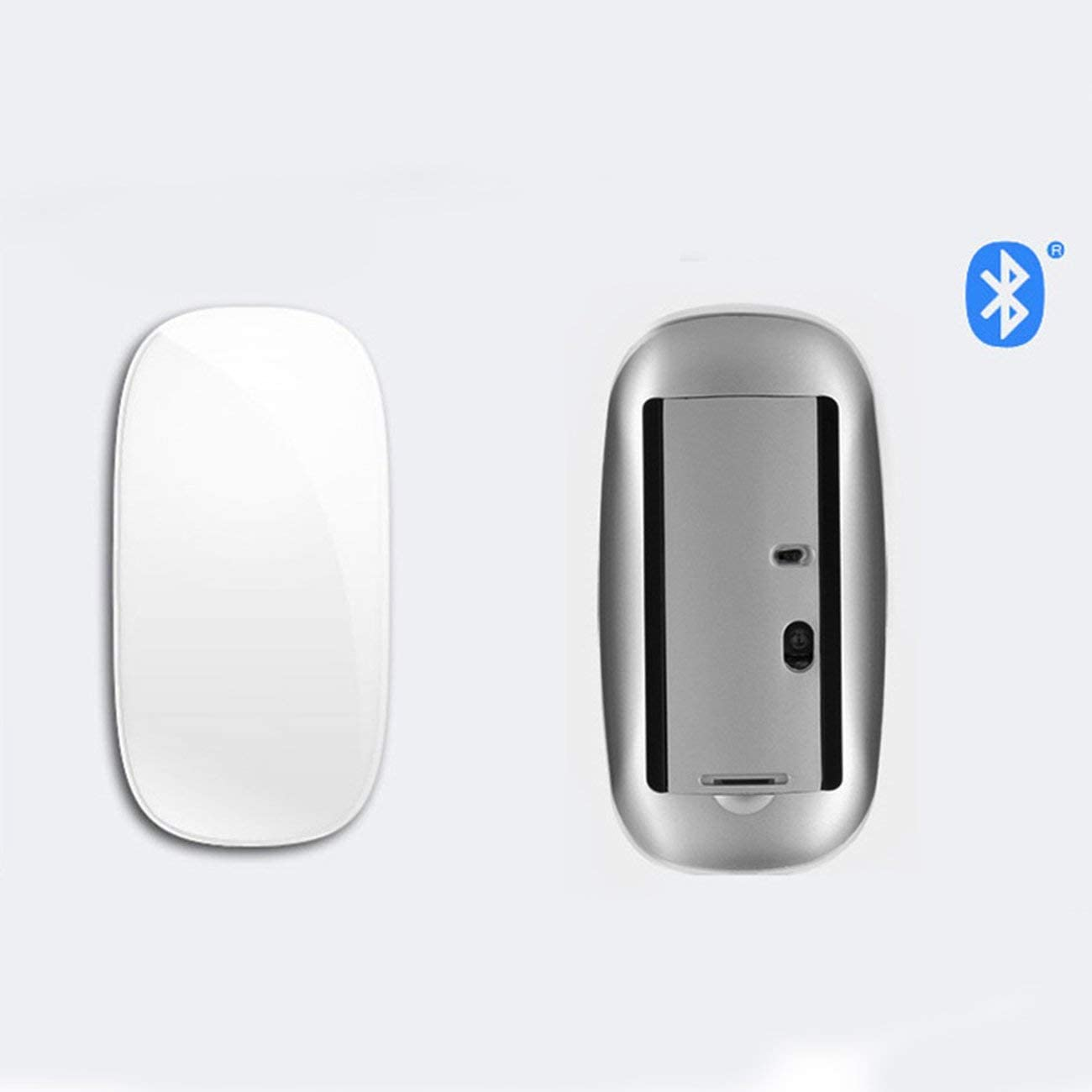White/&Bluetooth Wireless Mouse for Mac Book Air for Mac Pro Ergonomic Design Multi Touch Rechargeable Mouse Computer Peripherals