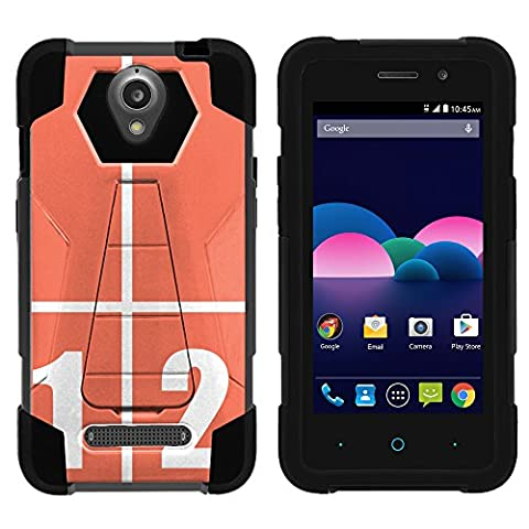 ZTE Obsidian Cover, Dual Layer Shell SHOCK Impact Kickstand Case with Unique Graphic Images for ZTE Obsidian Z820 by MINITURTLE - Track (Track Phone Covers)