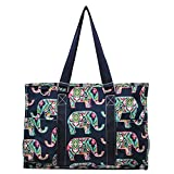 Elephant Print NGIL Zippered Caddy Organizer Tote Bag For Sale