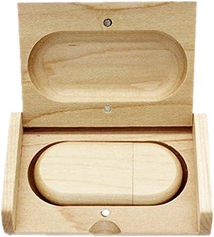 Memoria USB de Madera con Caja de Madera USB2.0/3.0 Maple Wood 2.0 16GB: Amazon.es: Informática
