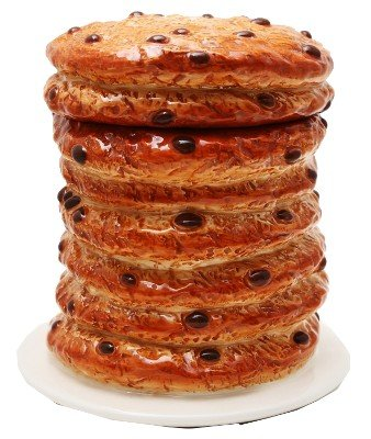 8 Inch Giant Stacked Chocolate Chip Cookies Ceramic Jar Figurine