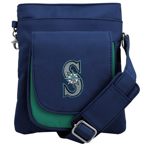 MLB Seattle Mariners Crossbody Purse-Handbag-Travel ()