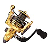 Thekuai Spinning Fishing Reel 13+1 BB Left/Right Interchangeable Light and Smooth Powerful Carbon Fiber Drag Saltwater Freshwater (XF4000) For Sale