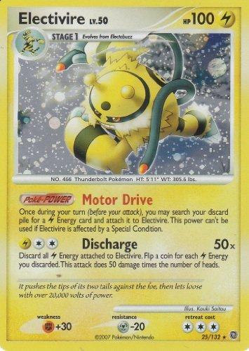Pokemon TCG Diamond and Pearl Secret Wonders Rare Holofoil Card- Electivire LV.50 #25