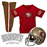 football 49ers helmet - Franklin Sports NFL San Francisco 49ers Deluxe Youth Uniform Set, Small