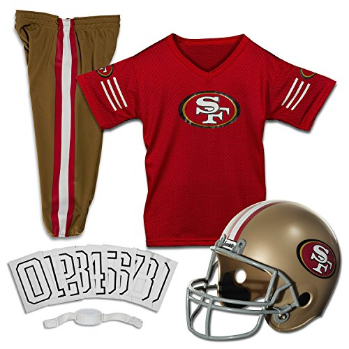 Nfl San 49ers Francisco Fan (Franklin Sports NFL San Francisco 49ers Deluxe Football Uniform Set- Small)