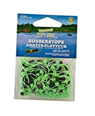 40pk bobber stop W/bead char; (40 pack) Rod-N-Bob's new bobber stops (patent pending) now come complete with slotted sleeves! one of the problems with conventional bobber stops is that fishermen forget to take their non-slotted bobber stop sl...