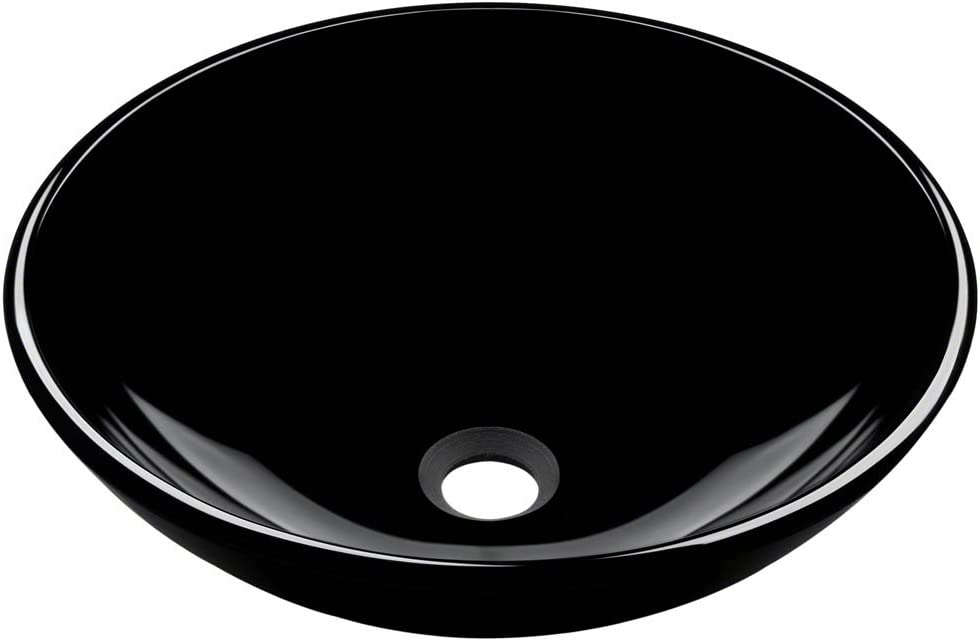 Polaris Sinks P106 Black Coloured Glass Vessel Sink