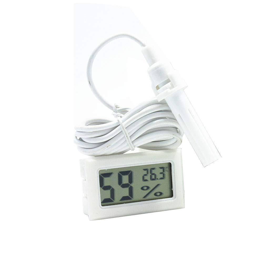 Loweryeah White Embedded Hygrometer, Electronic Thermometer, Digital Thermometer and Probe with -1 Probe. by Loweryeah (Image #1)