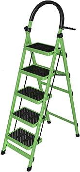 KJZ Escalera telescópica, escalera interior de cinco escalones Escalera plegable de cuatro pasos de metal Escalera portátil del almacén del hotel Escalera multifunción: Amazon.es: Bricolaje y herramientas