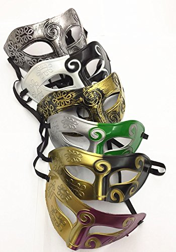 Adults Vintage Venetian Masquerade Mask Party Costume Acccessory Masks Props Antique Look (pack of - Masquerade Costume Party